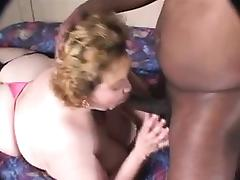 Amateur venerable performing Interracial with two men porn tube video