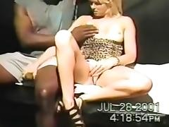 Blonde bitch with black guy sucking his black beefy dick and gets pussy drilled deep porn tube video