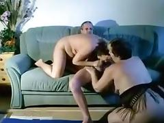 Two chubby milfs shares one hard cock for sucking and riding porn tube video