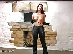 Boobs, Babe, Boobs, Grinding, Leather, Topless