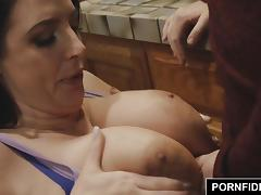 PORNFIDELITY Angela White Big Natural Titty Fucking