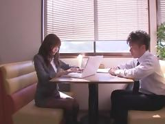 Horny Japanese slut Nana Konishi in Crazy Secretary JAV video