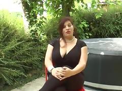 Amazing bbw brunette porn tube video