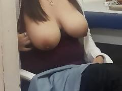 big natural tits amateur flashing