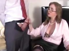 Boss, Boss, Handjob, Office