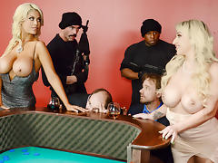 Bridgette B & Nina Kayy & Charles Dera & Prince Yashua in Blowing On Some Other Guys Dice - Brazzers tube porn video