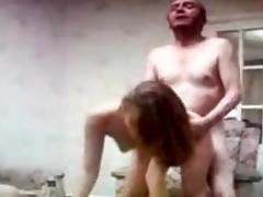 Grandfather and grandson enjoy a whore tube porn video