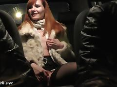 Jeny Smith is being caught naked on back seat of taxi porn tube video