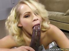 Britney Young Sucking On A Huge Black Cock