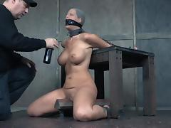 syren is collared and humiliated in the dungeon porn tube video