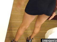 MexiMILF Gabby Quinteros Strips Out of Her Little Black Dres porn tube video