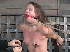 Choking, Babe, BDSM, Bound, Brunette, Choking