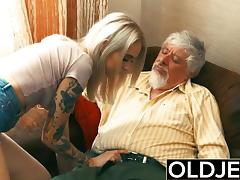 18 19 Teens, 18 19 Teens, Blonde, Fucking, Old, Old Man