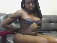 Squirting a fountain from her ebony pussy porn tube video