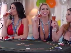 Milfs playing card game porn tube video