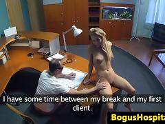Euro patient fingered and fucked by doc