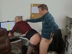 Naughty Secretary Meeting with the boss porn tube video