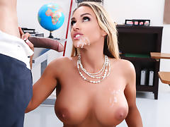 Big Tits, Big Tits, Blonde, Cum, Cum in Mouth, Stockings