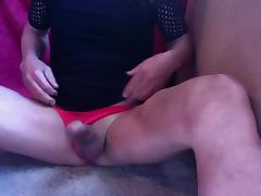 Black dress cumshot porn tube video
