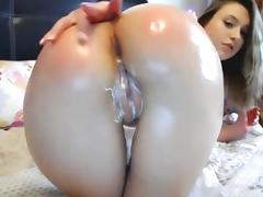 Cute butt anal dildo porn tube video