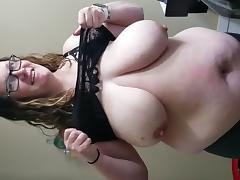 Bbw boob drop