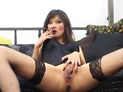 Russian Prostitute Lyuba B smoking and her pierced cunt tube porn video