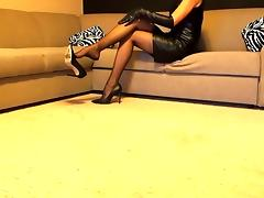 Stockings high heels leather boots porn tube video