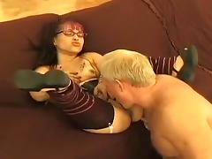 Crazy Homemade clip with Doggy Style, Stockings scenes