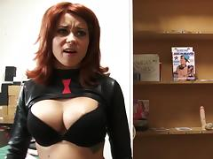 Watch this redhead cutie get absolutley pounded, and finish off with spidey getting all his senses touched porn tube video