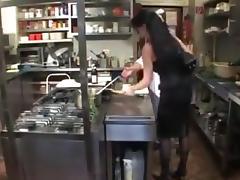 German doms put a strapon on the menu porn tube video