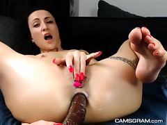 Pretty Shaved Milf Is Playing With Anal Dildo porn tube video