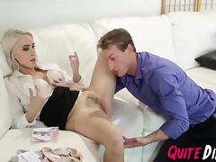 Cadence Lux getting her wet tight pussy banged rough