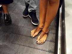 Nice feet in sandals