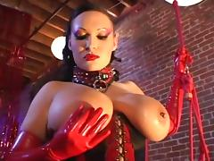 Big tit big ass in latex fucking and sucking