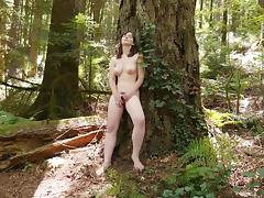 Sweet Raven Masturbating Outdoors porn tube video