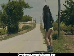 Hitch Hiker, Fucking, Outdoor, Small Tits, Hitch Hiker