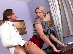 All, Babe, Blonde, Blowjob, Clothed, Doggystyle