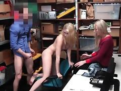 Shoplifter Sierra Nicole fucked in front of her mom