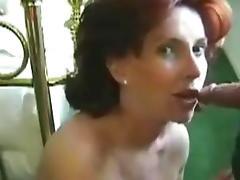 Mature wife facial 2