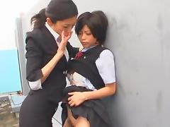 Hottest Japanese whore Kurumi Katase in Exotic College, Fingering JAV movie porn tube video