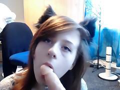Horny Kitten Sucks Feet And Dildo 4 You