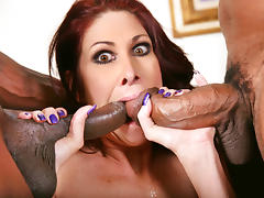 Big titted Cougar Tiffany Mynx Fucks Two Black Cocks porn tube video