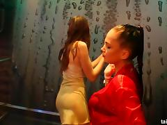 Bisexual babes getting pounded at pajama party tube porn video