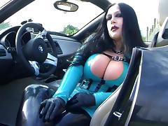 Busty BMW Z4 Bitch - Public Blowjob Handjob with Gloves in Majorka - Fuck my nasty Mouth - Cum on my Tits porn tube video