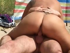 Clip of pornstar Katie Coquard beach fuck