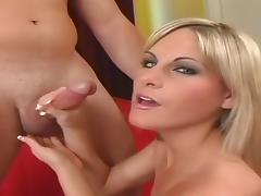 Hottest pornstar Courtney Simpson in best handjobs, small tits xxx movie