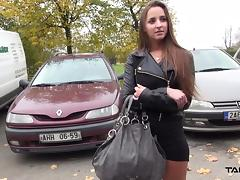 Takevan - Party babe jump in car with stranger and fuck porn tube video
