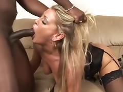 Pornstar, Blonde, Cumshot, Facial, Horny, Interracial