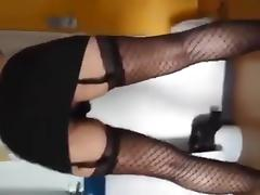 Sexy french crossdresser sucks and swallow