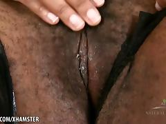 Misty spreads her big hairy pussy porn tube video